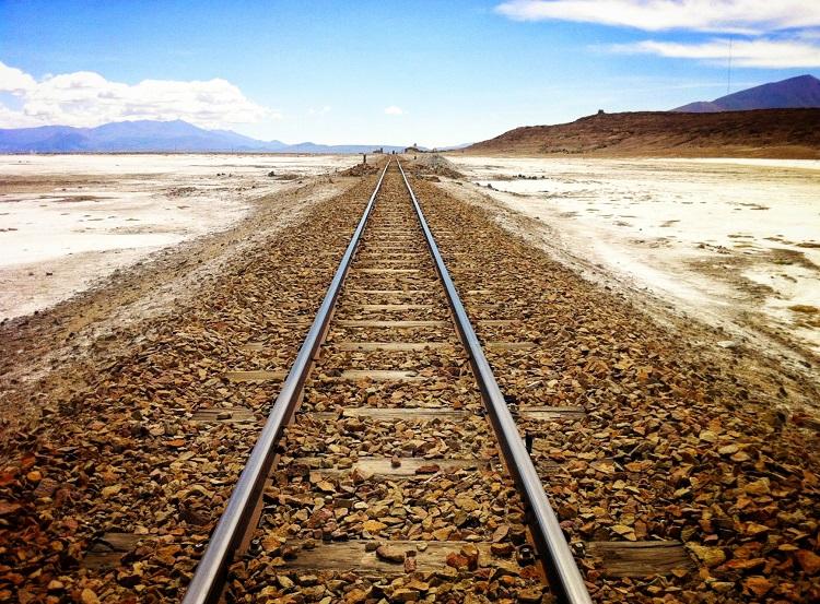 Uyuni's old railway tracks