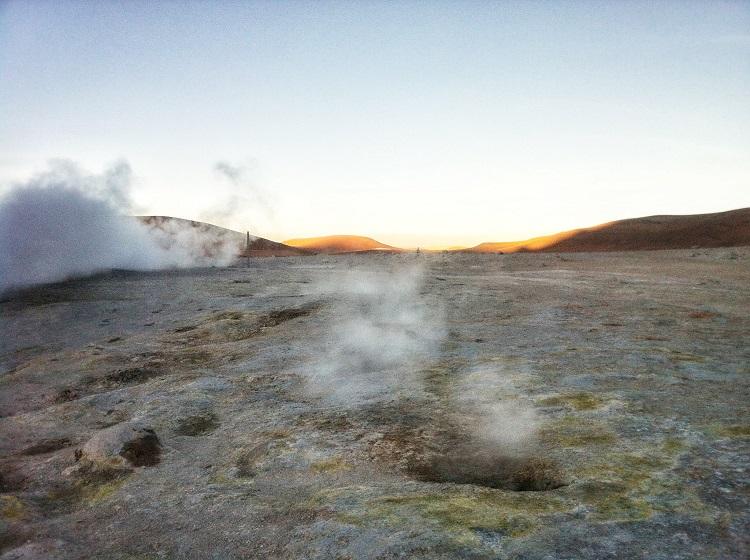 """""""Sol de Mañana"""" geysers Salar de Uyuni Bolivia"""