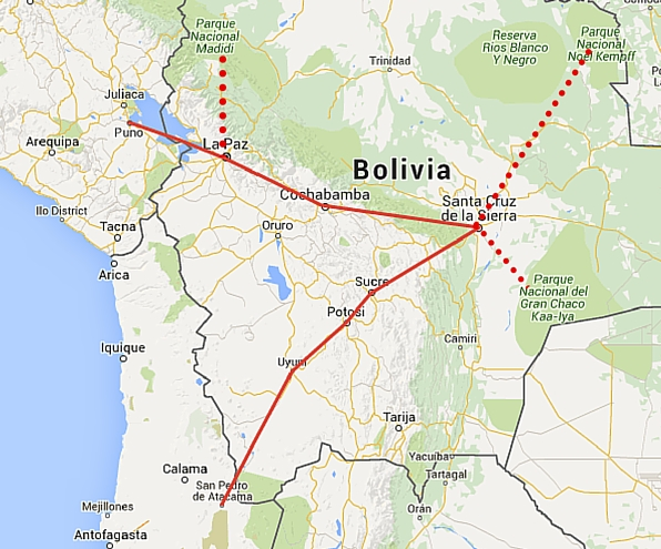 An Awesome Itinerary For Bolivia From Peru To Chile Bolivian Life - Map of bolivia