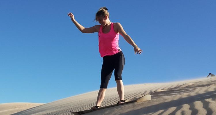Sandboarding In Bolivia